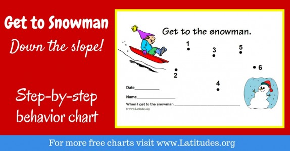 Get to the Snowman Behavior Chart