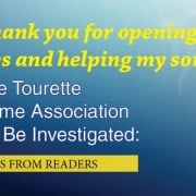 Comments from readers on tourette syndrome