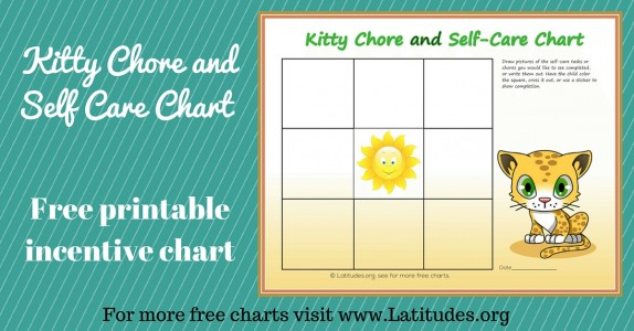 Kitty Chore and Self-Care Incentive Chart WordPress